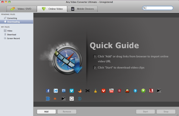 Main Window of MOV Video Converter for Mac