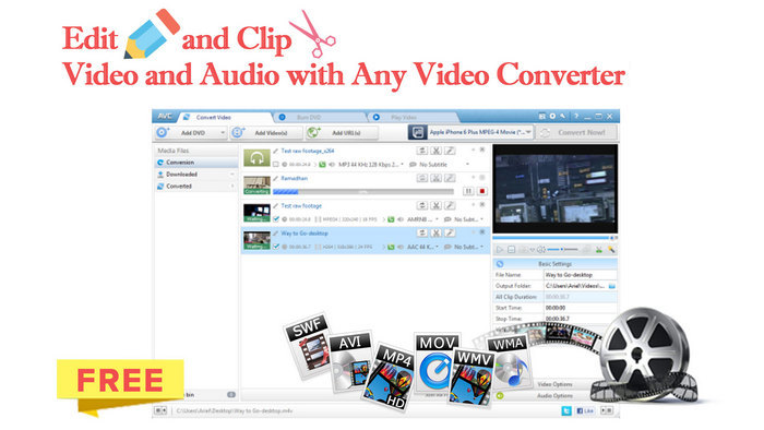 edit with with any video converter