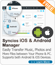 Free Syncios Manager for iOS and Android
